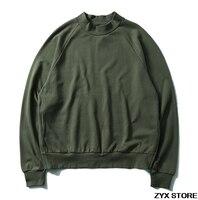 2017ss Best Version 1 1 Fear Of God Men Sweatshirt Army Green Hoodies HipHop Pullover Hoodie