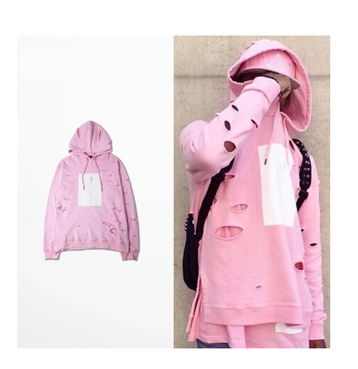 Loldeal Для мужчин хип-хоп с капюшоном пуловер с капюшоном уничтожены Стиль Толстовка bape розовый балахон