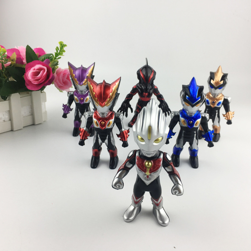 12 cm Ultraman model Action figure Super hero doll Children 39 s Toys Furnishing articles Holiday gifts anime figure A set of 6 in Action amp Toy Figures from Toys amp Hobbies
