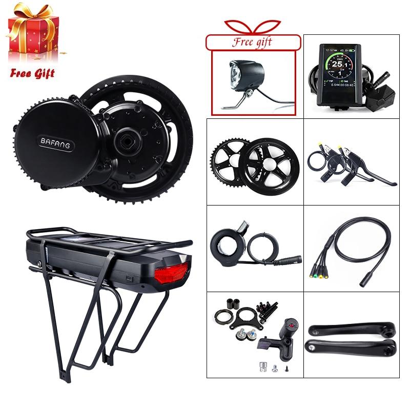Bafang BBS02B 48V 750W Mid Drive Motor Electric Bicycle Conversion Kit 17 5Ah e Bike Rear