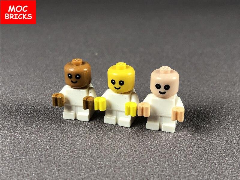 1 Teile/los Moc Ziegel Diy Baby/kleinkind Weiß Körper Mit Gelb Hände Fit Mit Cty668 Bausteine Puppen Spielzeug Für Kinder Geschenke Blut NäHren Und Geist Einstellen