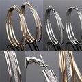 Мода стиль серьга brinco леди кристалл горный хрусталь круглые большие серьги стержня уха новый EAR-0065