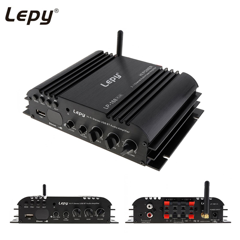 Lepy 168Plus Bluetooth Amplifier Wireless HIFI 2 1CH Bass Audio Speaker Digital Compact Portable Mini Stereo