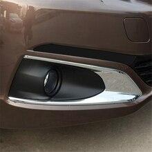 Для Peugeot 301 2017 2018 ABS Chrome спереди глава Туман свет лампы Cap стикер аксессуары формовочная отделка авто Обложка для укладки
