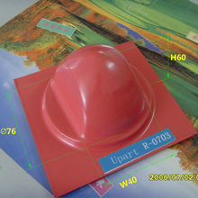 large round pad printing cliche rubber pads