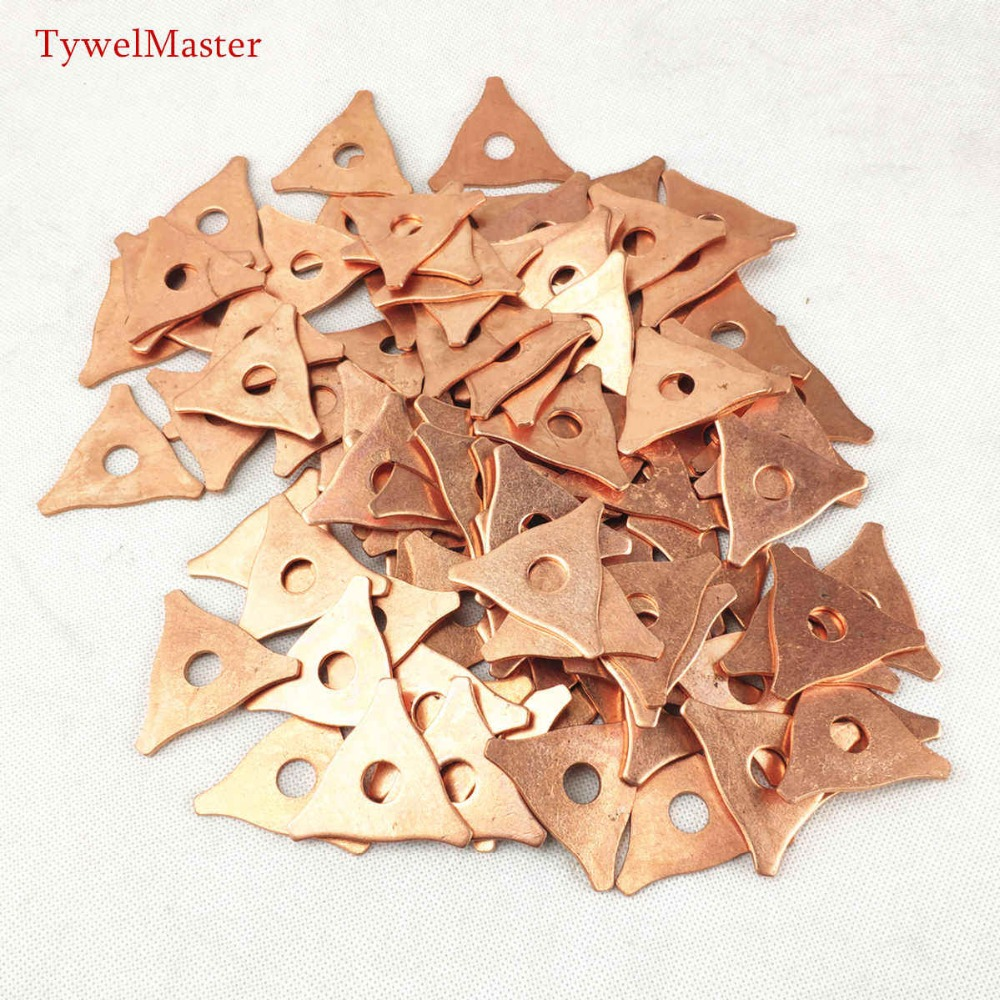 10pcs Dent Pulling Triangle Washer Spot Welder Star Washer Metal Shrink Repair Garage Spot Welding Machine Triangle Meson Pads
