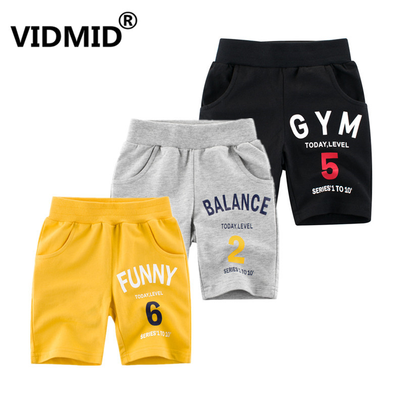 VIDMID Children's cotton shorts Summer Baby Boys Trousers Kids Shorts Baby Boy Girl Jeans Shorts Solid Kids trousers 4037 27 1