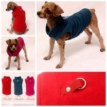 Купить с кэшбэком Pet dog clothes winter thicken velvet dog coat vest With traction Small dog warm pajamas pet Home Clothing dog jacket costume