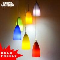 Frosted Glass pendant lighting for restaurants modern Simple Rainbow design lamp pendant lighting Fruit colorful pendant lamp