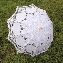 Bridal-Umbrella Victorian Lace Vintage Parasol White YO Mariage Radius 38cm Arc CHO