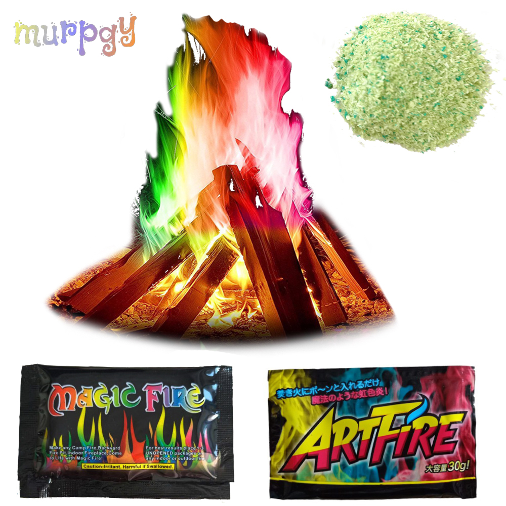 Mystical Fire Magicians Tricks Coloured Flames Bonfire Sachets Fireplace Pit Profesional Pyrotechnics illusion Pyrotechnics toy image