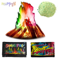 Mystical Fire Magicians Tricks Coloured Flames Bonfire Sachets Fireplace Pit Profesional Pyrotechnics  illusion toy