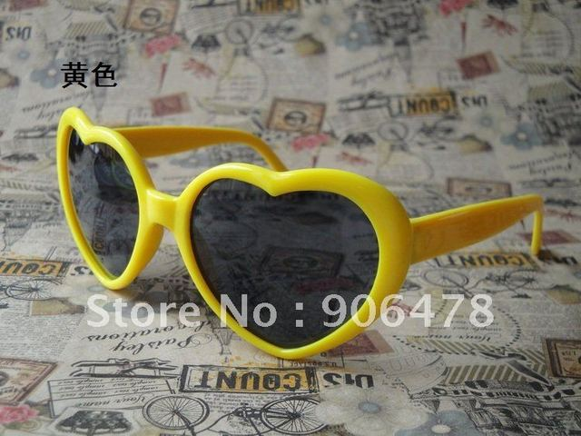 Promotion+Free Shipping 5PCS/Lot Fashion Popular  Casual Heart sunglasses 13 Colors For Choice
