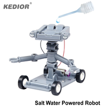 DIY Toy Salt Water Powered Mini DIY Robot Kit Assembling Blocks Educational Toy Learning Green Science For Kids Gifts