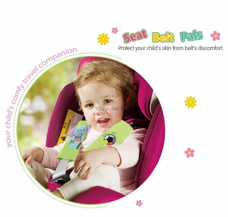 5 Pieces Children Baby Car Seat Belt Shoulder Pad Sets Soft Baby Belt Strap Cartoon Animal Safety Belt Protect Pad seat belt pal