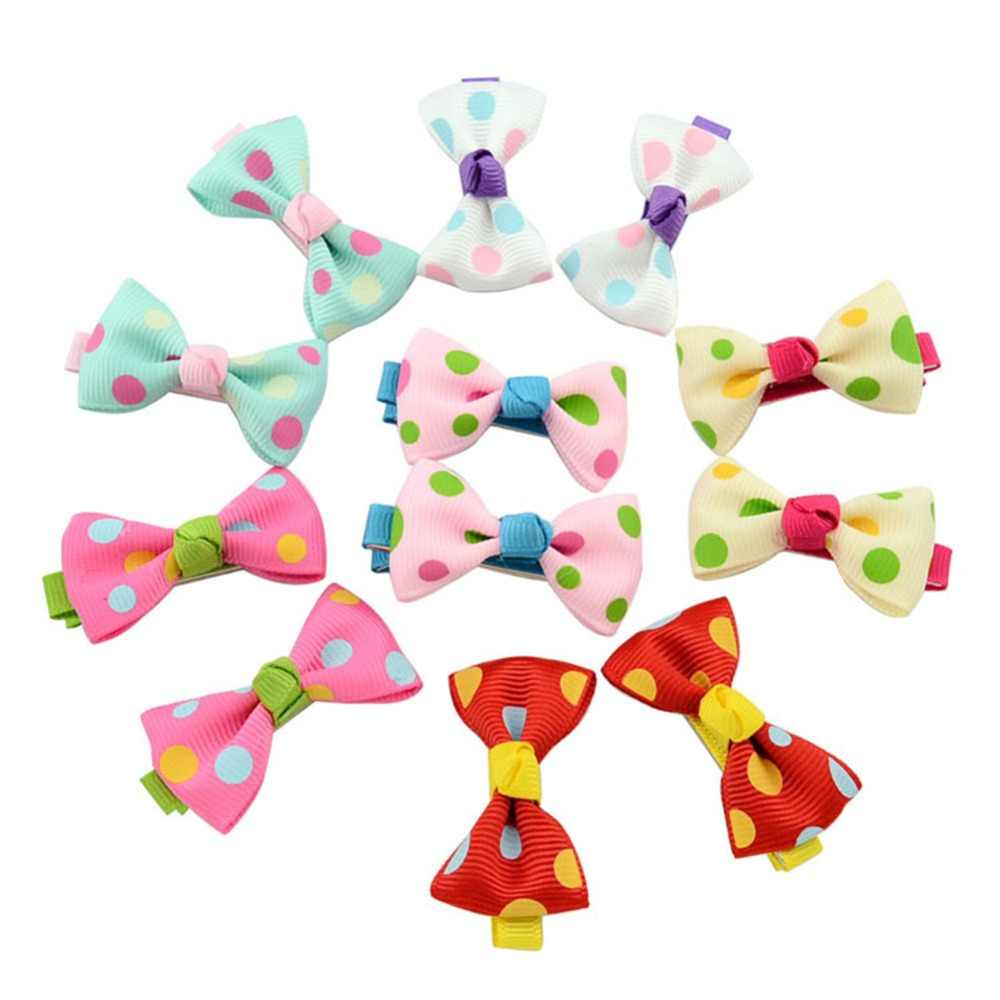 2 pcs/set 3.1inch Kids Boutique Silver Grosgrain Ribbon Bows with hair Clip Handmade bow-knot Hairpins Kids Hair Accessories 601