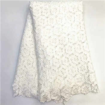 2019 latest african milk silk lace water soluble chemical lace fabric,high quality african cord lace rfno252