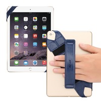 Universal Tablet Hand Strap Holder 360 Degrees Swivel Leather Handle Grip With Elastic Belt Secure Portable