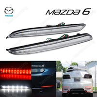 For 03 08 Mazda6 24 LED Rear Bumper Reflector Clear Lens Tail Brake Light Mazda6 MPS