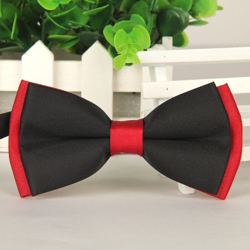 SHENNAIWEI 2016 Men's Black And Red Bow Ties For Men 12cm*6cm Neckwear Wholesale Bowties