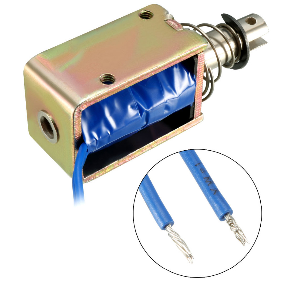 Uxcell 1PCS DC 12 24V Solenoid Electromagnet 400mA 9 6 30W 25 22N 10mm Pull Type Linear Motion Solenoid Electromagnet in Magnetic Materials from Home Improvement