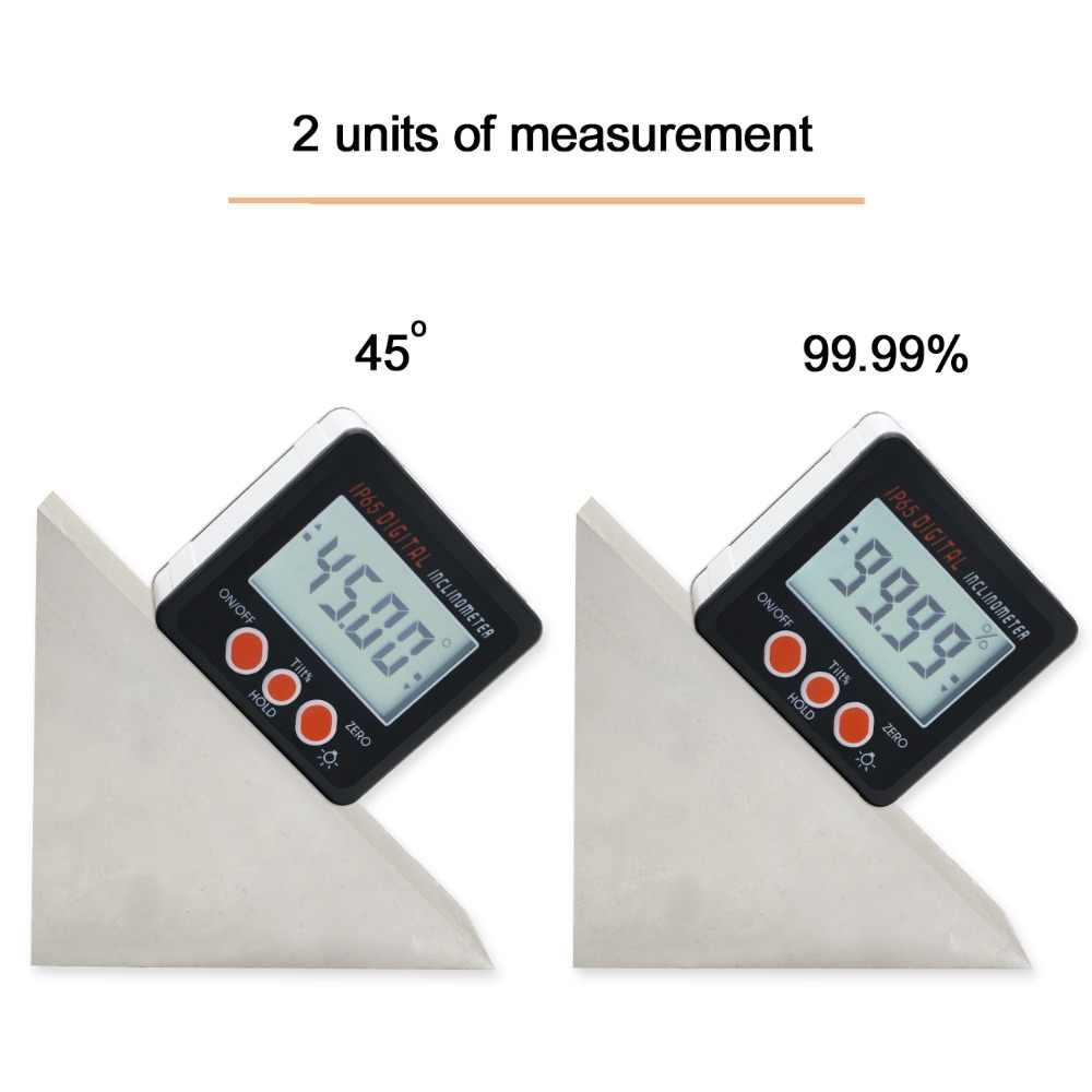 Digital Angle Finder >> Digital Level Protractor Inclinometer Magnetic Level Angle Meter Angle Finder Level Box Digital Angle Gauge