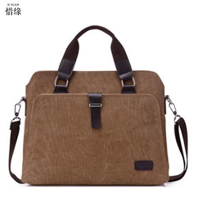 fdcdd3f8fa 2017 Retro Men Briefcase Business Shoulder Bag Canvas Messenger Bags Man Handbag  Tote Bag Casual Travel ...