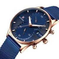 Мужские часы синие Модные Аналоговые кварцевые часы водостойкие мужские деловые наручные часы Мужские Хронограф дат часы Relogio Masculino