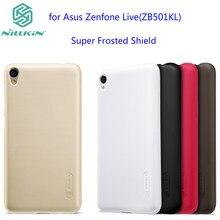 Asus Zenfone Жить ZB501KL чехол NILLKIN Супер Матовый Экран матовый жесткий задняя обложка чехол протектор экрана для Asus ZB501KL