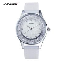 SINOBI Ladies Fashion Wrist Quartz Watch Purple Silicone Strap Women Wristwatches With Diamond Girls Watches Relojes