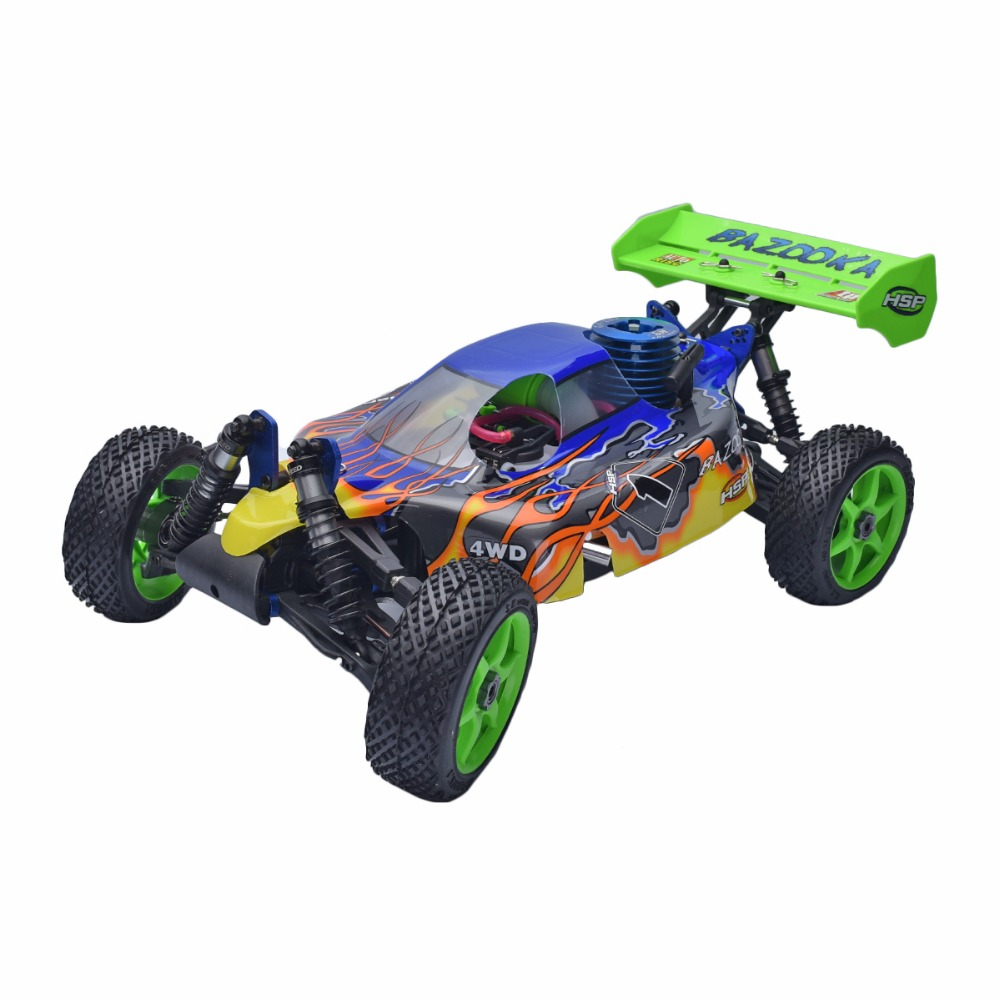 HSP 94081 Rc Car BAZOOKA 1/8 4WD Nitro Gas Off Road Buggy 2.4 ghz Remote Control high speed Cars Kids gift Toys