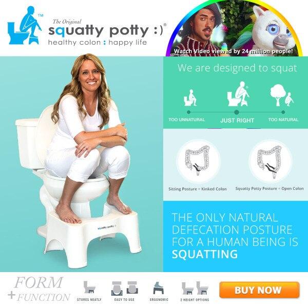 2PCS New Deluxe Affordable Ergonomic Design Squatty Potty Toilet Stool Original $24.95