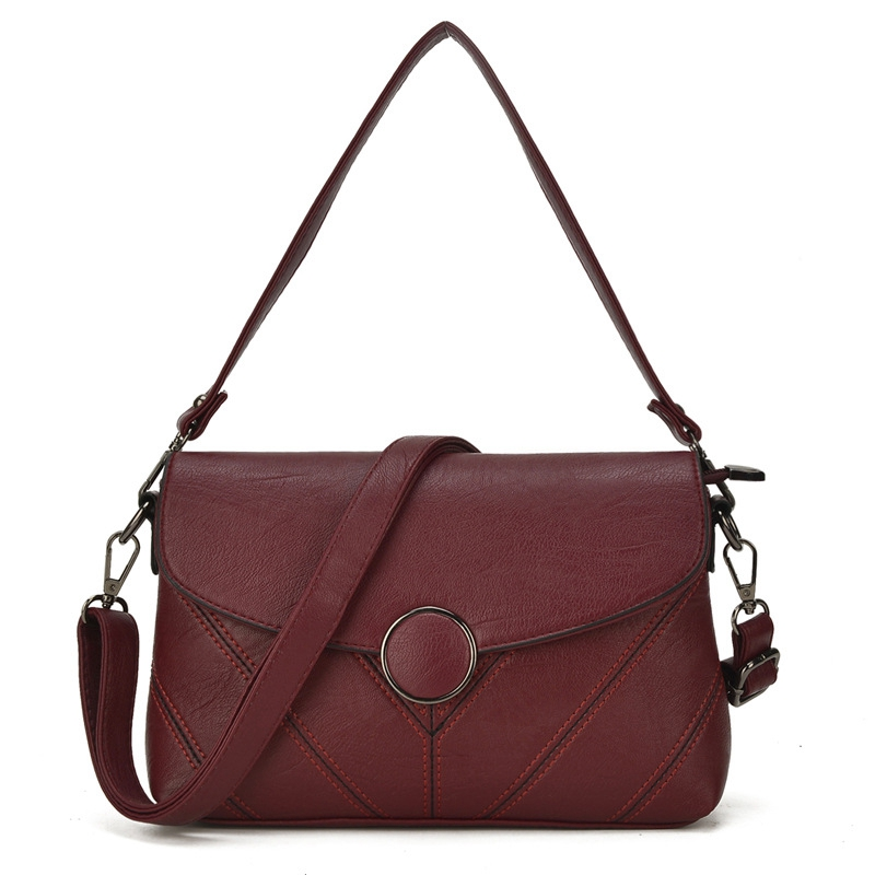 Fashion Vintage Leather Female Handbags Women Shoulder Bags Casual Ladies Tote Small Bags Crossbody Messenger Bag bolsa feminina women genuine leather casual real cowhide tote bags vintage soft small trunk shoulder handbags solid tassels bolsa feminina