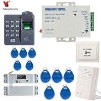 Yobang Security Waterproof Biometric Fingerprint Access Control Intercom Machine Digital Electric RFID Code System For Door Lock
