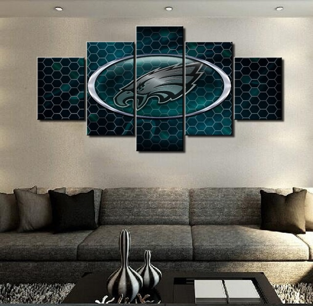 Canvas Painting On The Wall Philadelphia Eagles Logo Pictures For Living Room Hot Cuadros Decoration