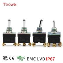 ON-OFF-ON ON-ON Full type Momentary Screw Toggle Switch SPST SPDT DPST DPDT IP67 Rohs CE FCC EMC Certificate logged on