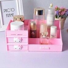 VKStory Life Bathroom Bedroom Pink Hello Kitty Storage Racks For Make Up Tools Earrings