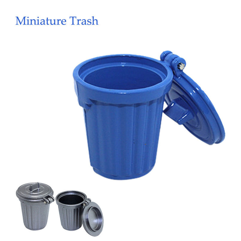 1//12 Miniature Education Dollhouse Garbage Trash Can Decor Gift Toy CWIEW