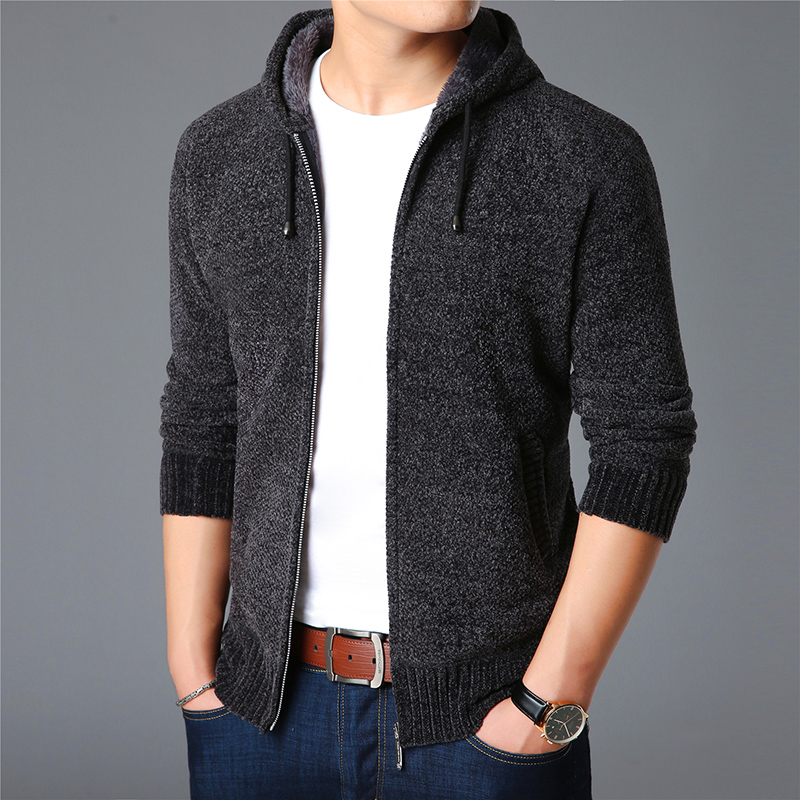 2019 New Fashion Brand Sweaters Men Cardigan Hooded Slim Fit Jumpers Knitting Thick Warm Winter Korean Style Casual Clothing Men