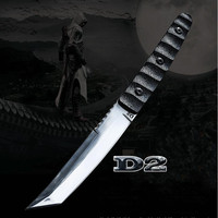 Top Quality Katana !D2 Steel Tactical Knife Fixed Blade G10Handle Tanto Outdoor Survival Knives Wilderness Combat Hunting Knifes