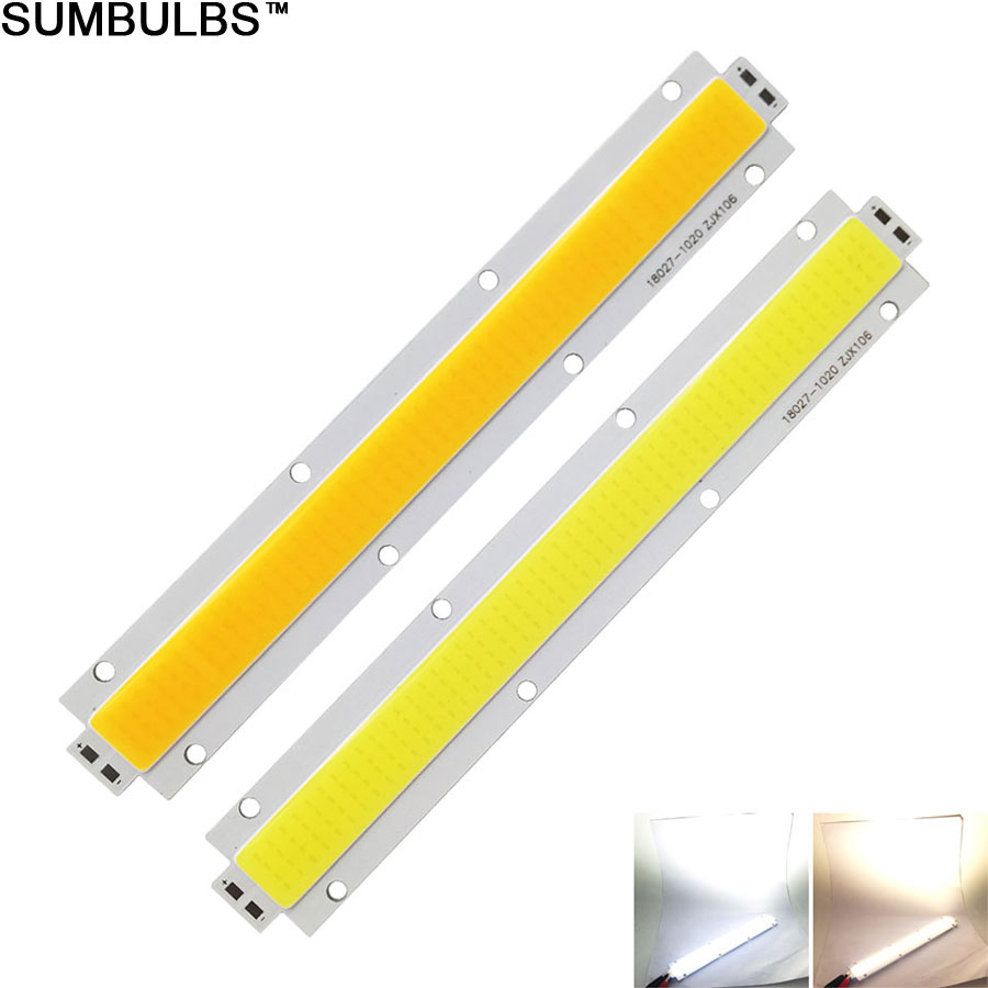 Sumbulbs 180x27MM 150W High Power COB LED Light Strip DC 28-33V Chip On Board Lighting Source for Floodlights DIY Outdoor Lamp sumbulbs led integrated chip 2820 cob light source for led lamps bulbs 20mm lighting diameter warm nature cool white 20pcs