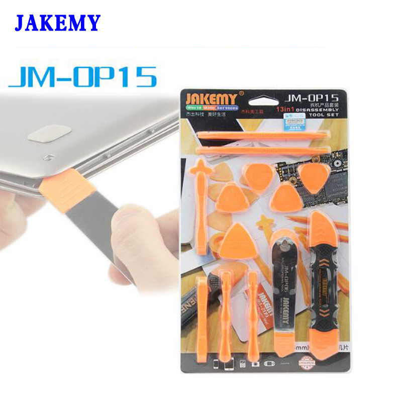 JAKEMY 13 In 1 Disassembly Tools Set Pry Spudger Roller Opening Tool For iPhone 7 6 5 For iPad for iPod Tablet Repair jakemy jm op15 opening disassembly tools set 13 in 1 roller opener spudger plastic paddle for mobile phone repair laptop tablet