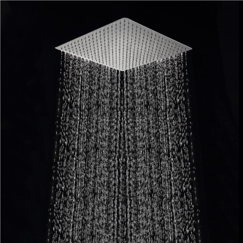 Free Shipping 40cm * 40cm Square Rainfall Shower Head.16 Inch  Stainless Steel Ultra-thin Ceiling  Rain Shower Rain Shower Head.