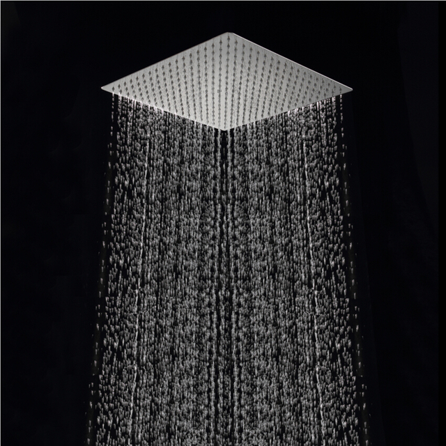 Free Shipping 40cm Square Rainfall Shower Head 16 Inch Stainless Steel Ultra