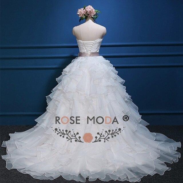 Online Shop Rose Moda Organza Ball Gown White Blush Pink Wedding