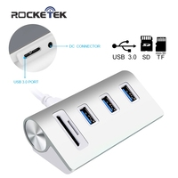Cateck Bus Powered USB 3 0 3 Port Hub With 2 Slots Card Reader Combo For