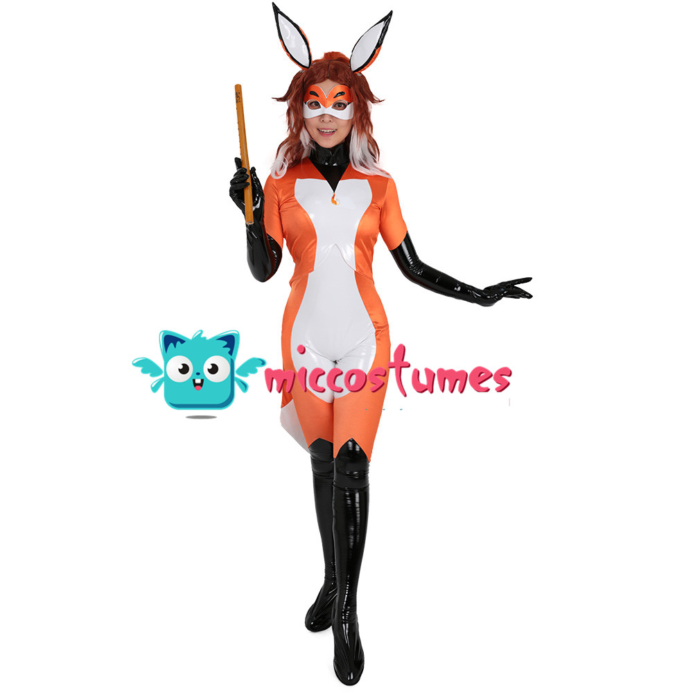 Alya Fox Cosplay Costume Bodysuit Jumpsuit Woman Halloween Outfit