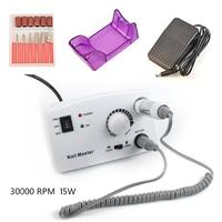 Professional 30000RPM 15W Electric Nail Art Drill Machine Manicure Set, Nail File Drill Bit Accessories Pedicure Pen Machine