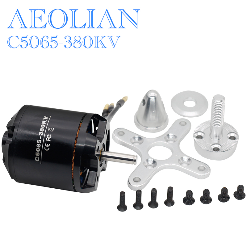 Aeolian 1680W C5065-380KV RC fixed-wing Airplane Brushelss Motor aeolian 5045 890kv for rc airplane