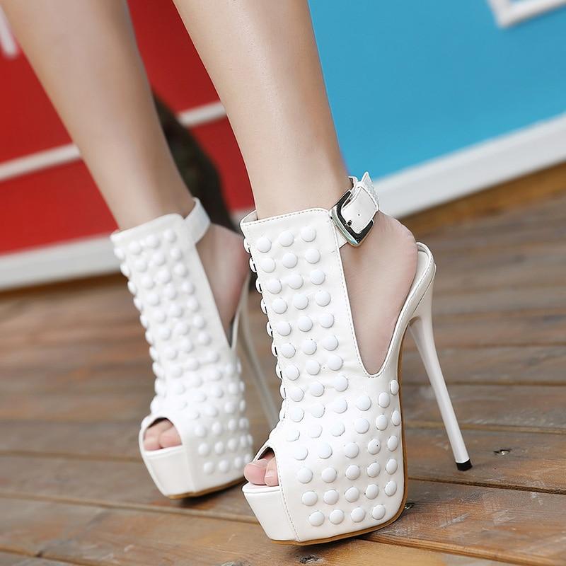 34 40 Euro Size Women Summer Pumps Girl New Fashion Trend Rivets font b Sandles b